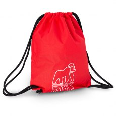 Red Gorilla Drawstring Bag